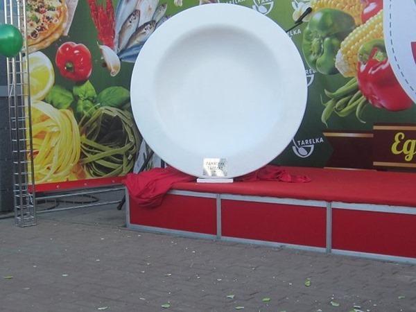 В Челябинске установлен памятник тарелке